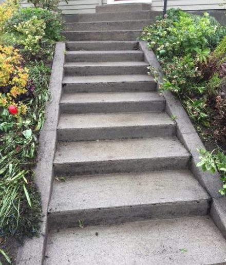 image of pressure washed stairs in Portland, OR